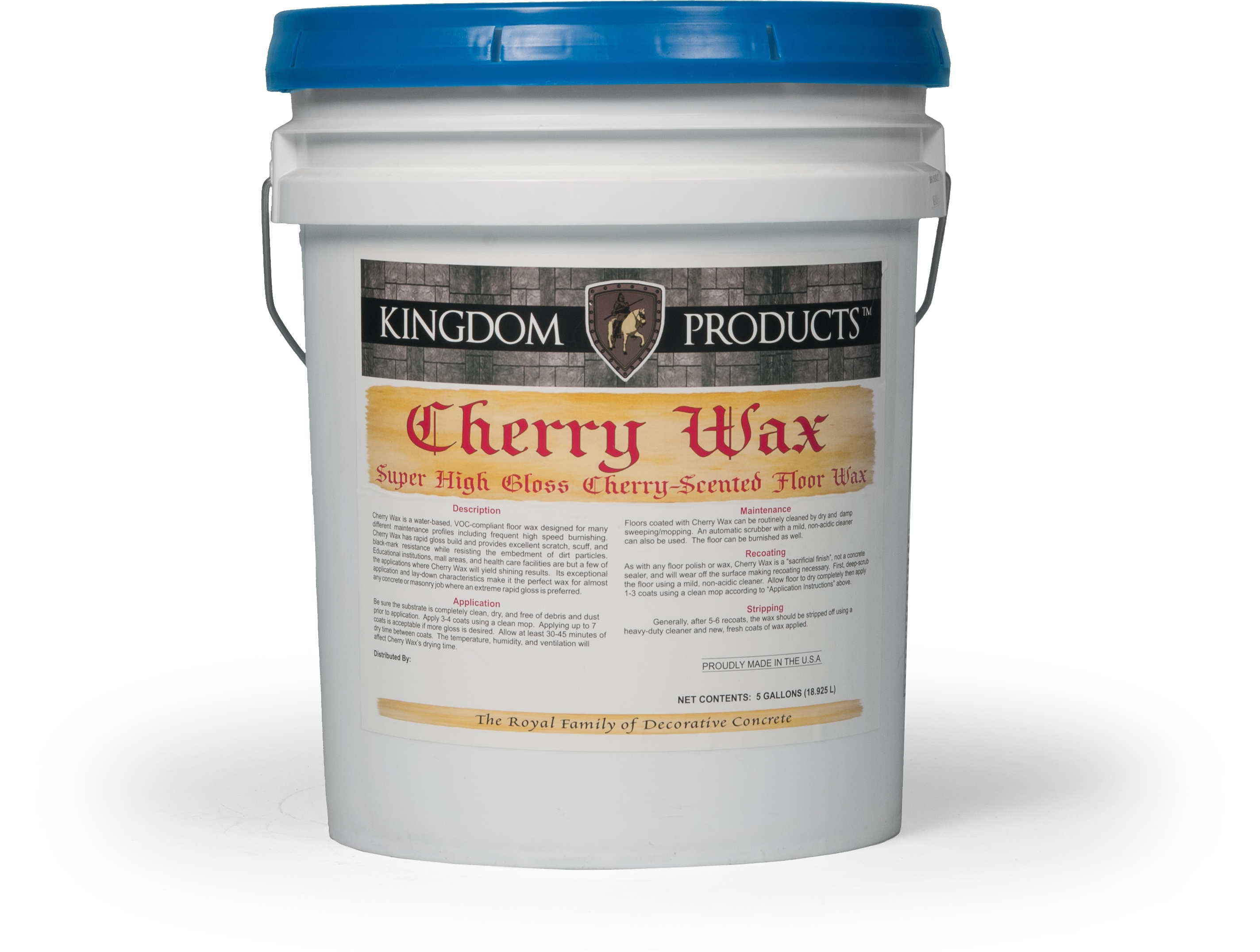 Cherry wax floor wax kingdom concrete products for Mop on concrete floor wax